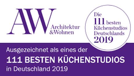 A&W Auszeichnung, Die besten 111 Küchenstudios Deutschlands 2019